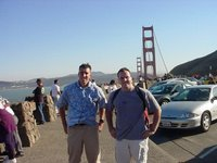 Shane and me at the Golden Gate bridge