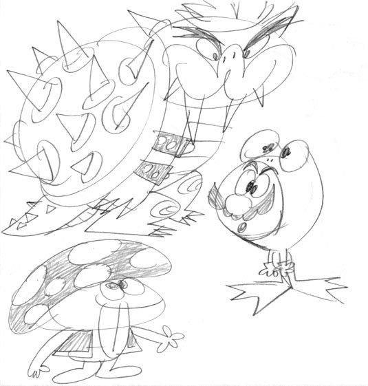 rex hackelberg  nintendo drawings