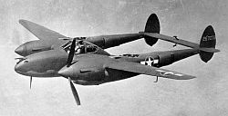 P-38 with port propeller feathered