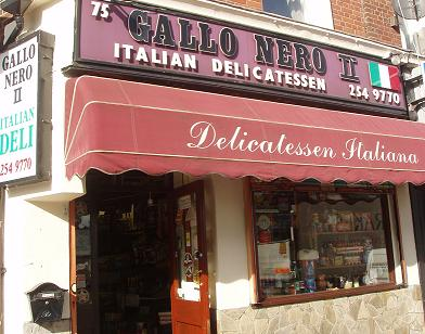 Gallo Nero Italian delicatessen, Stoke Newington