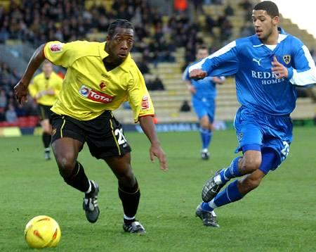 Lloyd Doyley playing for Watford