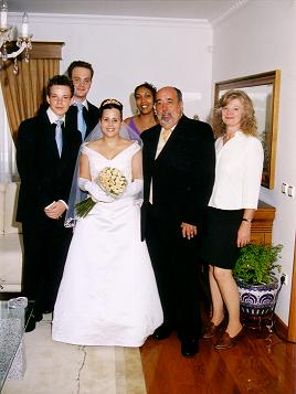 Minha família no casamento de Maryléne e Dário