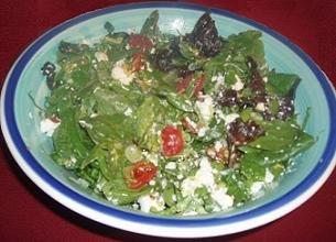 The dressed salad