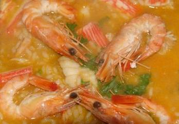 Seafood rice (arroz de marisco)