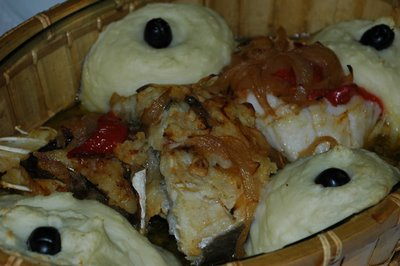 Cod with pepper sauce (bacalhau com pimentos)