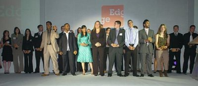 Nominees on stage at The Edge Employer Awards