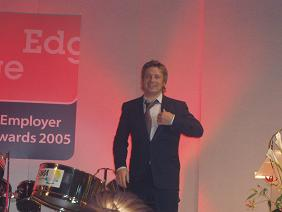 Jamie Oliver addressing The Edge Awards 2005