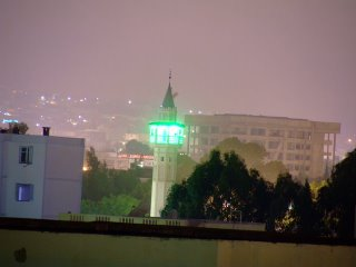 Hay el Khadra mosque by night