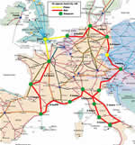 Our Eurail Map