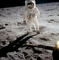Buzz Aldrin landing on the moon?