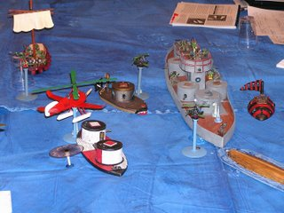 One of the big Dwarf Battleships.