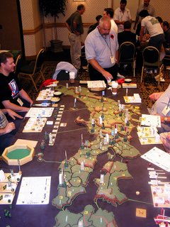The old Avalon Hill Game Samurai has been 'Blown-up' (miniaturized) by John and the CVW