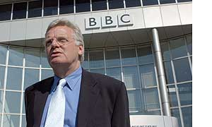 Michael Grade's first day at the BBC 17 May 2004