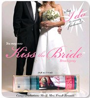kiss the bride wedding breath spray