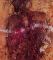 Roberta Pugno, Sciamano, 1996, tecnica mista su carta