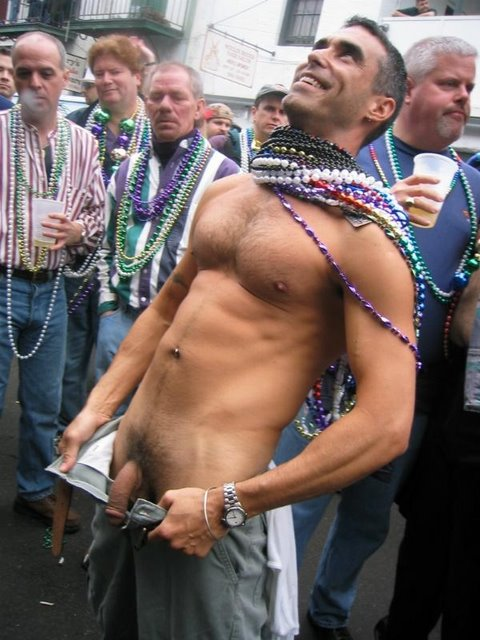 Mardi gras dick flashing