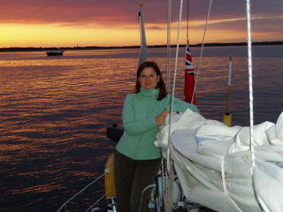Anchored in Studland bay outside Poole on Ellen´s Birthday