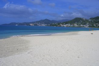 St George's from Grand Anse Beach