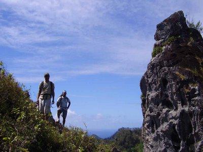 Climbing Ua Pou