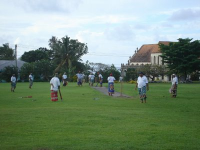 Samoan cricket - courtesy of Revision II