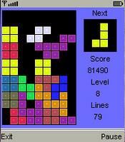 BBTetris a Tetris Clone For The Blackberry