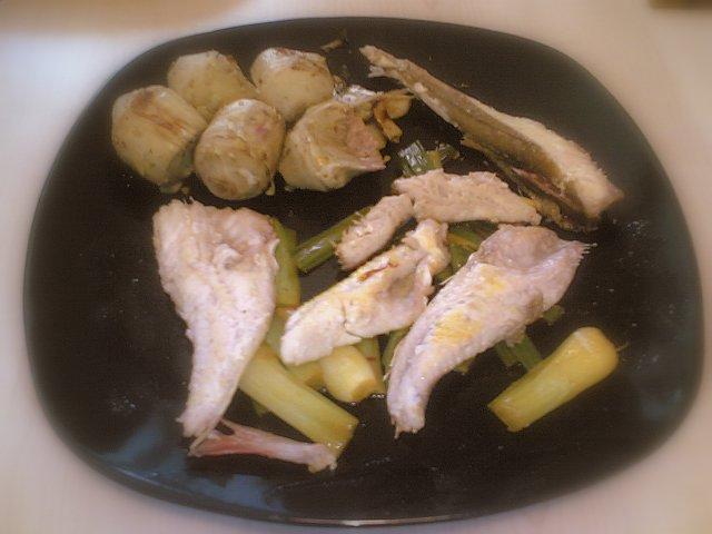 la piccola casa: filetti di gallinella con carciofi e cipollotti ... - Come Cucinare Filetti Di Gallinella