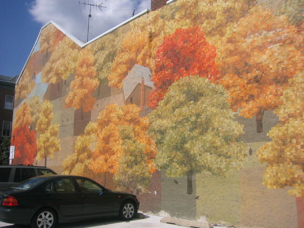 Femiknit mafia beware dial uppers for Autumn tree mural