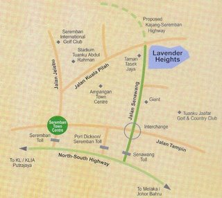 Map of Taman Lavender Height