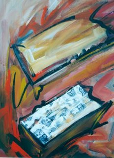 Mi caja de zapatos, acrílico, 2002, de Daniela Navarro