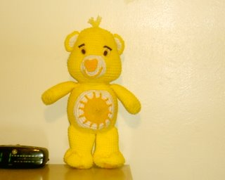 My Crocheted and Knitted Items: Care bears Share Bear Afghan
