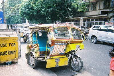 An infamous pedi-cab parked in downtown Dumaguete