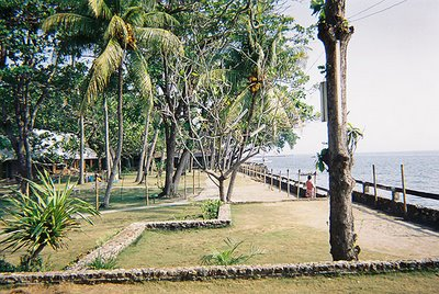 South Seas Resort in Dumaguete City...looking toward the open-air restaurant
