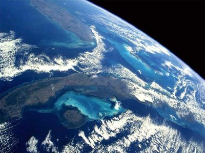 A view of the Florida Keys from space