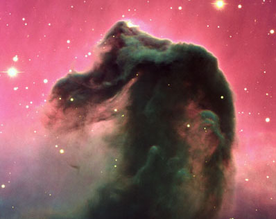 A composite color image of the Horsehead Nebula and its immediate surroundings