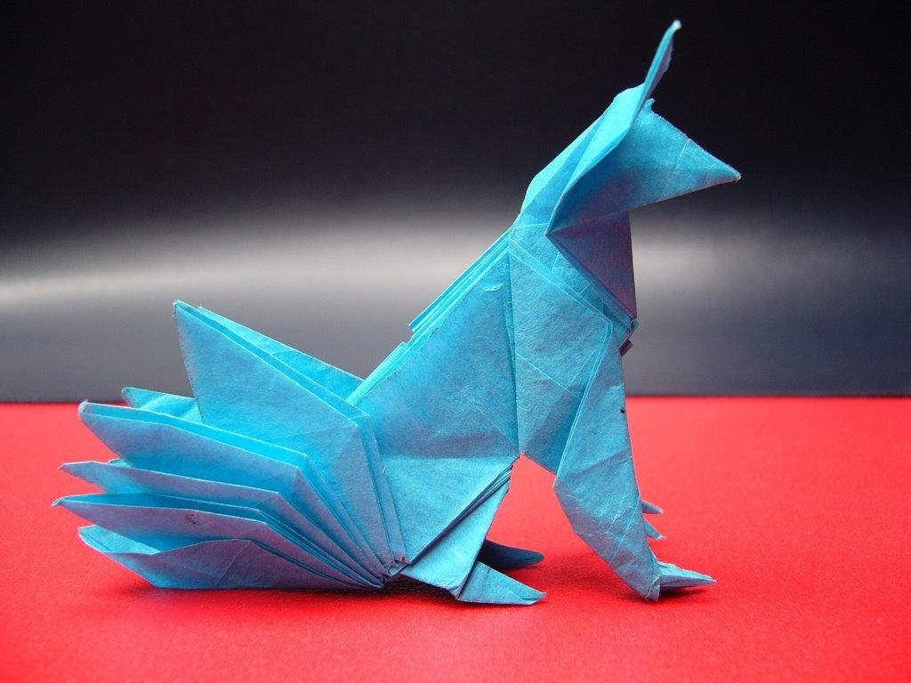 origami zorro de 9 colas