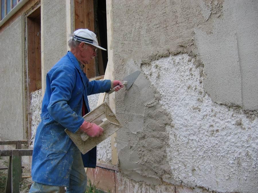 Maison de paille dans l 39 orne le corps d 39 enduit - Enduit ciment sur parpaing ...