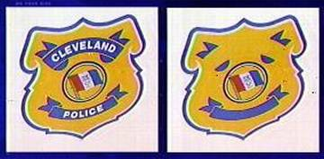 cleveland police badge reveals the image of a pig?