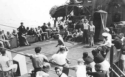this photo was shot by my dad during WWII on his ship the prentiss. reverie..