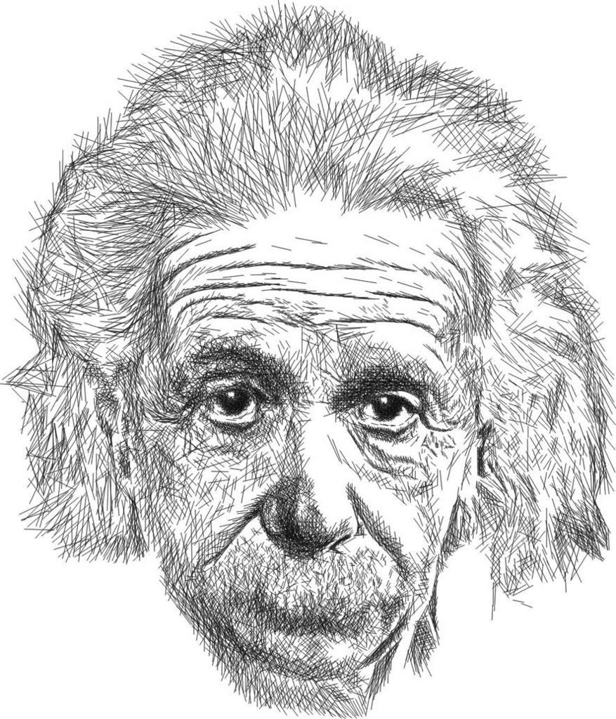 El mundo de Ariel Dibujo de Einstein