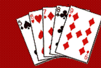 Low straight hand in poker