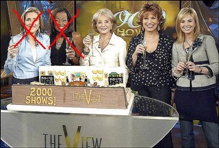 The View cast x-ed out