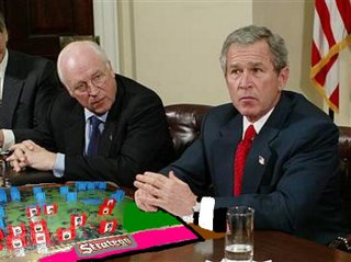 Bush and Cheney playing Stratego