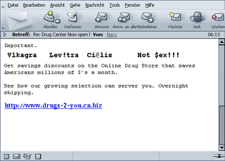 Email text of spam message