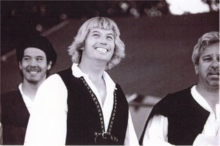 Left: Brett Favre in an off-Broadway production of A Midsummer Night's Dream