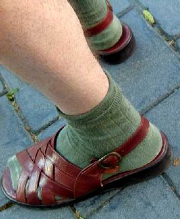 Socks with sandals on this Romeo