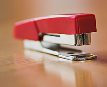 Red stapler with magical powers