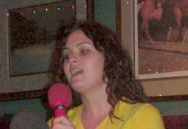 Bad karaoke singer