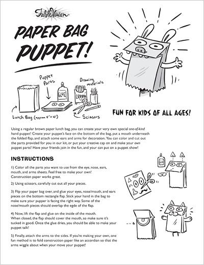 Jinx The Monkey Drip Paper Bag Puppet