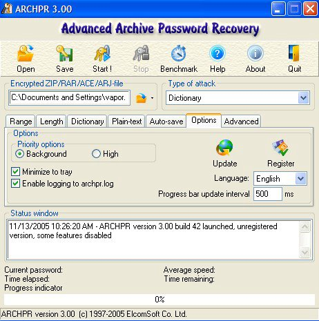 Elcomsoft Advanced Archive Password Recovery 4.53 Authentication Key