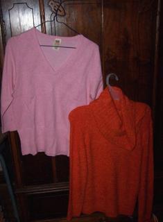 My new warm fuzzy sweaters!